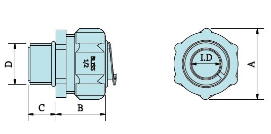Straight Metric Thread Liquid-tight Flexible Conduit Fittings