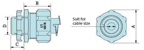 Cable Strain Relief Connector