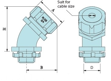 45 degree Cable Gland